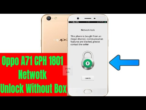 Oppo A71 CPH1801 Network Unlock Done Without box