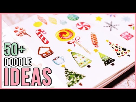 Christmas Holiday Watercolor Doodle Ideas   Art Journal Thursday Ep. 28