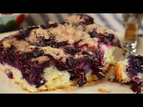 Blueberry Cake Recipe Demonstration - Joyofbaking.com
