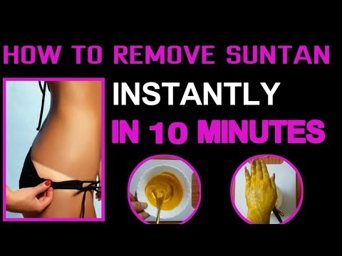 how to remove sun Tan instantly | Remove sun tan In 10 Minutes | remove Tanned Face and Body Quickly