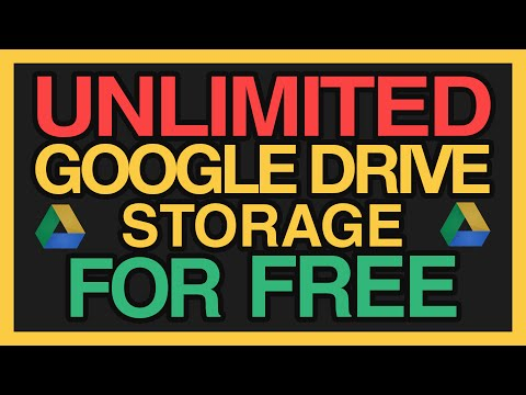Theoretically UNLIMITED Google Drive Storage for FREE