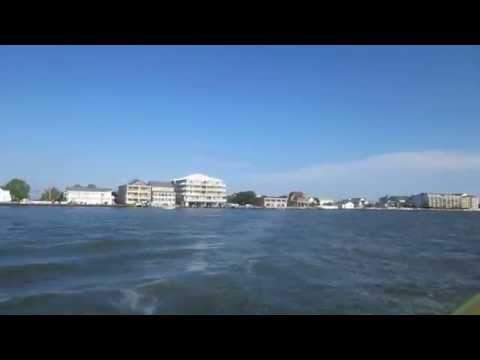 Ocean City Maryland water taxi ride on Sinepuxent Bay