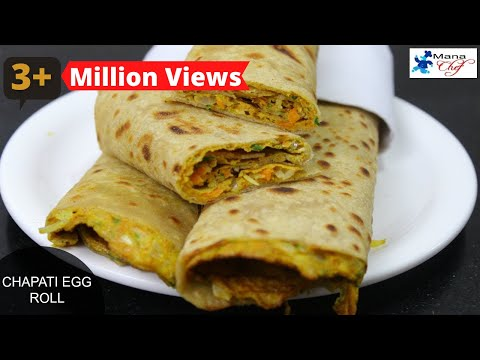 Chapati Egg Roll Recipe In Telugu