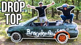D.I.Y CONVERTIBLE MUD CAR!   We SENT IT a little to hard...