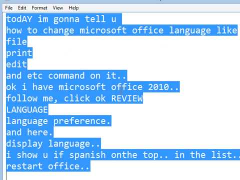 How to change MICROSOFT OFFICE DISPLAY LANGUAGE
