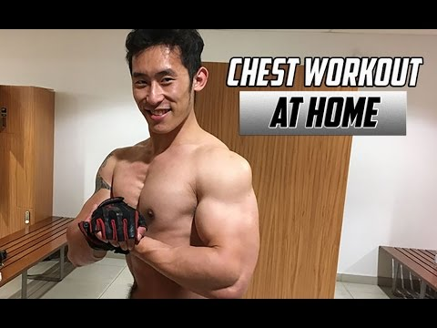 HOW TO GET A BIG CHEST AT HOME - 5 MINUTE WORKOUT