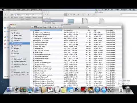 Dropbox Part 3. Organizing and starting a backup on Mac OS
