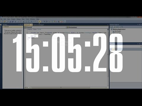How to Make a Digital Clock in Visual Basic 2010