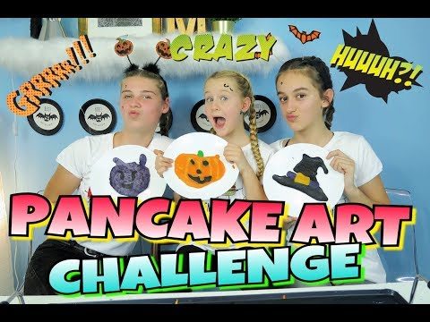 PANCAKE ART CHALLENGE!!💀Emoji Halloween Edition!🎃Mavie Noelle