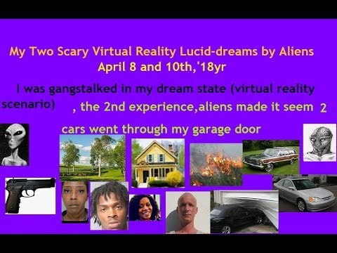 My 2 Abductions by Reptilians (OBE). Drove Car thru Garage, & Agent Set  People Up to Gang Stalk Me.