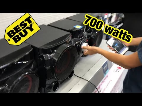 Download LOUD SUBWOOFER PRANK AT BEST BUY (700 watts) lg cm4550