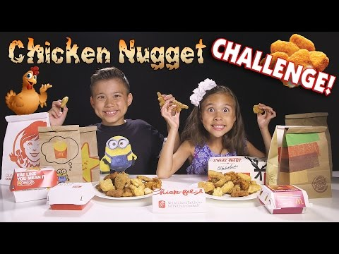 CHICKEN NUGGET CHALLENGE!!! Fast Food Naming Game!