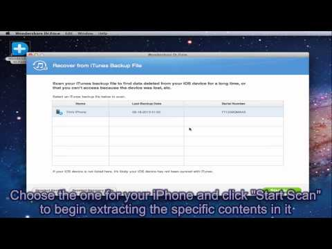 How to Extract Contacts from iTunes Backup
