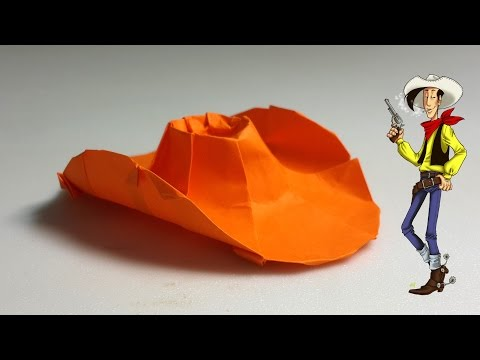 Paper Hat - Origami Cowboy Hat tutorial - DIY (Henry Phạm)