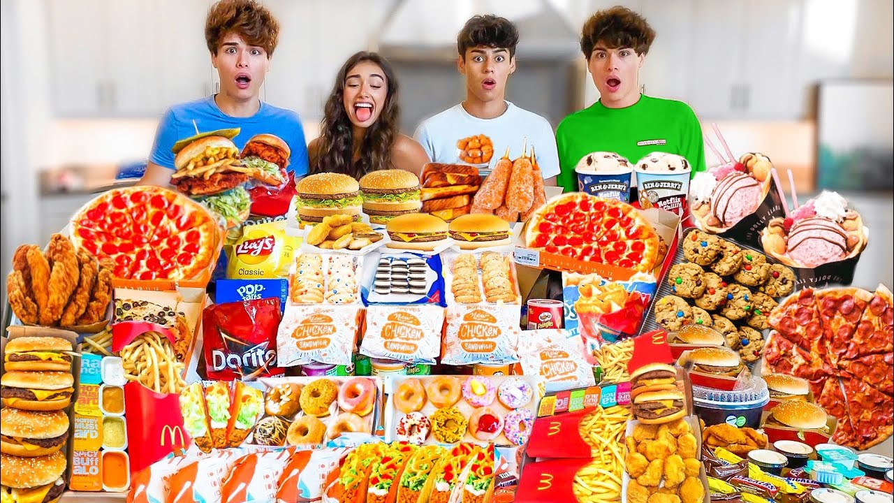 EATING 100,000 CALORIES IN 24 HOURS CHALLENGE