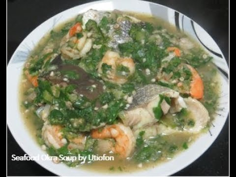 How to Make Seafood Okra Soup | Nigerian Style of Cooking Oil Free Delicious Seafood Okra Soup