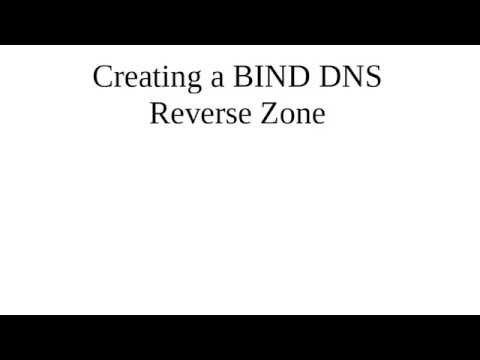 Creating a BIND DNS Reverse Zone