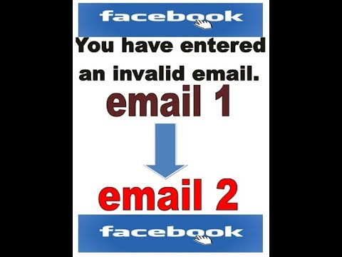 How to change primary email address on facebook? You have entered an invalid email address.