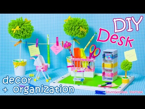 DIY Desk Decor and Organization Ideas – Mini Baby Room Style