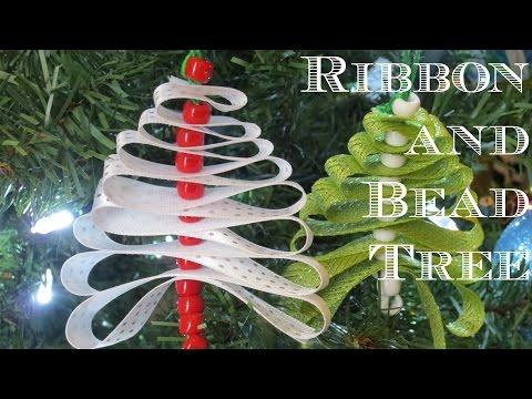 Ribbon and Bead Tree Ornament
