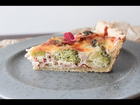 How To Make Broccoli, Ham And Bacon Pie - By One Kitchen Episode 484
