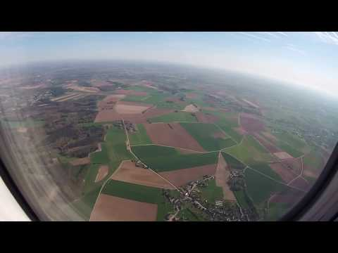 Aerial Views from the Dutch Coast to Landing and Taxi at Charleroi Airport, Belgium: 26/04/18