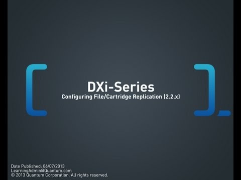 DXi-Series: Configuring File/Cartridge Replication (2.2.x)