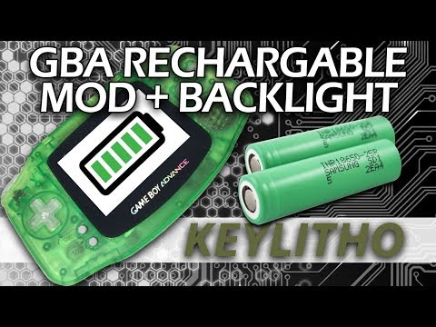 GBA Lithium Battery + Backlight Mod + USB Charging