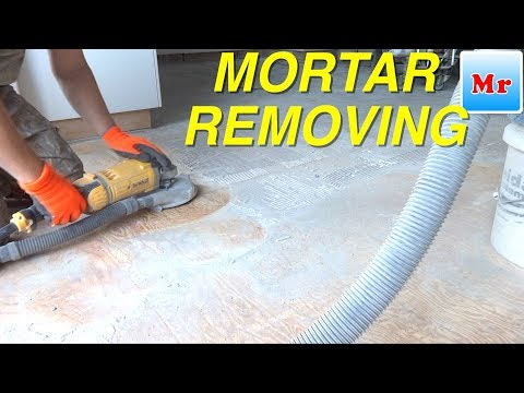 How to Remove Mortar and Grout from Plywood Subfloor MrYoucandoityourself
