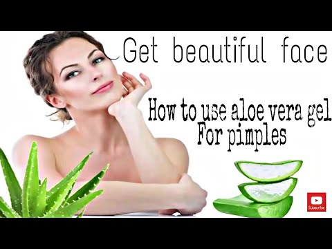 How to use aloe vera gel for pimples