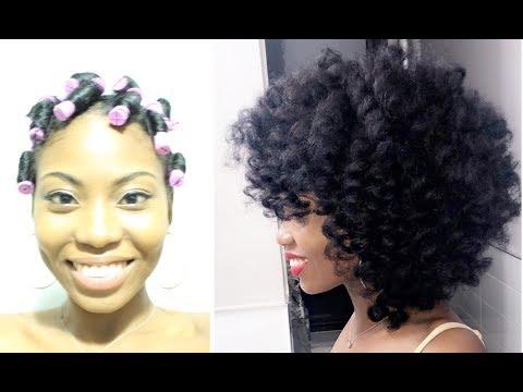 Perm Rod Set Tutorial on Natural hair (no heat)