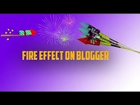 HOW TO GET FIREWORK ANIMATION EFFECTS ON BLOGGER OR WORDPRESS In Urdu Hindi