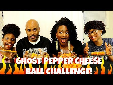 GHOST PEPPER CHEESE BALLS CHALLENGE! (FAMILY EDITION)