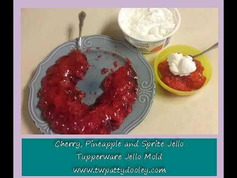 Cherry Sprite Jello using the Tupperware Jello Mold