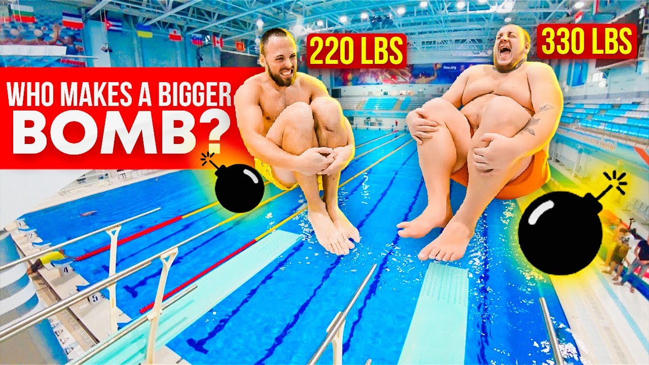 SPLASH BATTLE #1 | Muscles vs Volume at the swimming pool