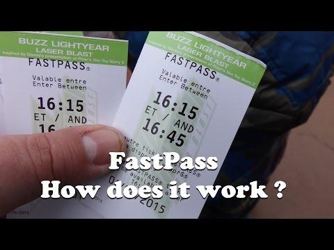How does fastpass work at Disneyland Paris