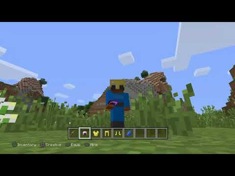 Minecraft: PlayStation®4 Edition how to upgrade your sword and your bow