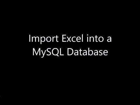 Import Excel to MySQL Database