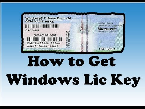 How to get your Microsoft Windows & Office product key License