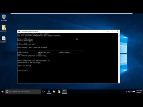 Bypass Admin access through guest Account in windows 10 (CVE-2017-0213)