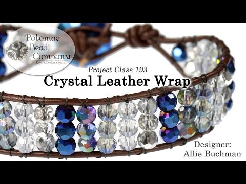 Crystal Leather Wrap (Bracelet Tutorial)