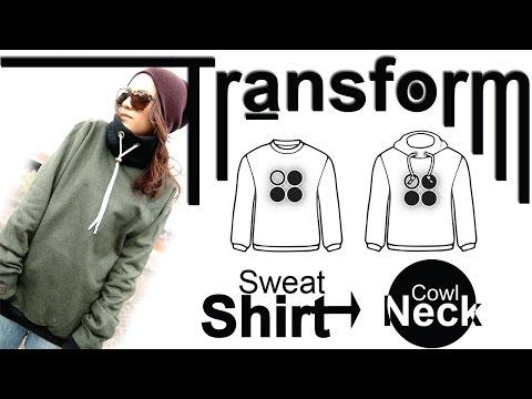 Easy DIY Transformation: Sweatshirt into Cowl Neck