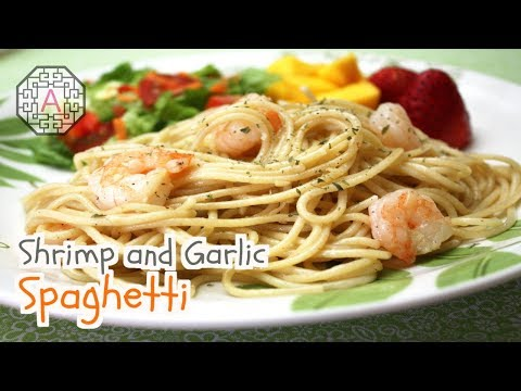 【Western Food】 Shrimp and Garlic Spaghetti