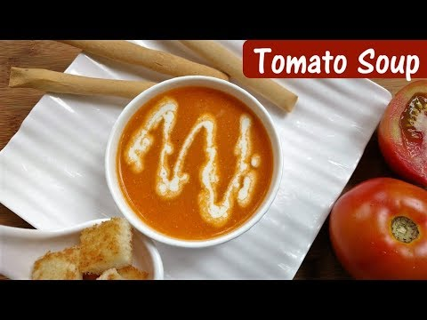 How to make Homemade Simple Tomato Soup | Sweet Creamy Tomato Soup Recipe