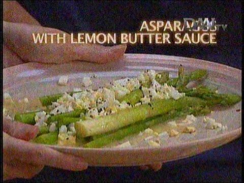 Resep Masakan Asparagus With Lemon Butter Sauce