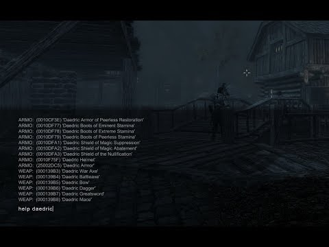 The Elder Scroll V : Skyrim - PC Commands how to get all item ID or item Code