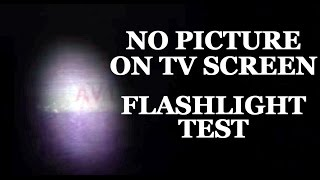 Lcd Led Tv Repair No Image Blank Black Screen Flashlight Test How To