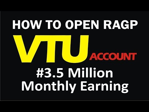 How To Open A VTU Account | RAGP Step by Step Guide