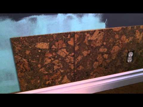 Cork Wall Tile Installation How-To