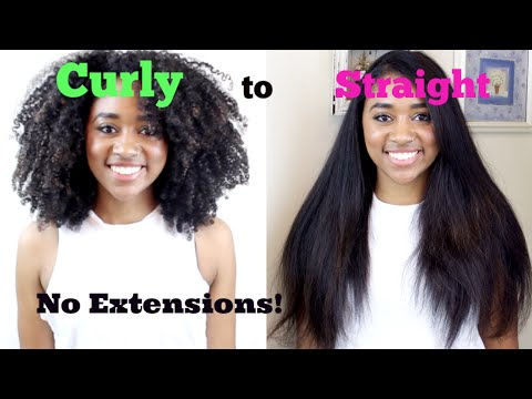 How to: Naturally Curly to Bone Straight Tutorial (No Heat Damage!)